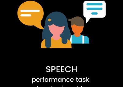Speech: Performance Task Teacher Guide